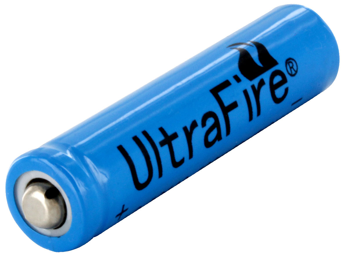 ultrafire uf aaa 10440 500mah 36v unprotected lithium ion li ion button top battery bulk