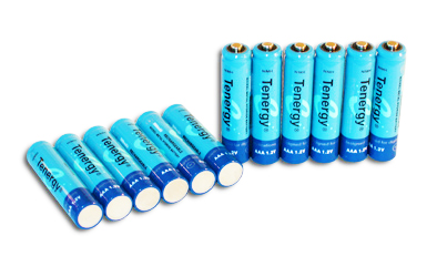 Tenergy AA 2600mAh 1.2V Nickel Metal Hydride (NiMH) Button Top Batteries - Pack of 12