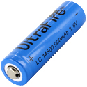 UltraFire UF AA 14500 900mAh 3.6V Unprotected Lithium Ion (Li-ion) Button Top Battery - Bulk