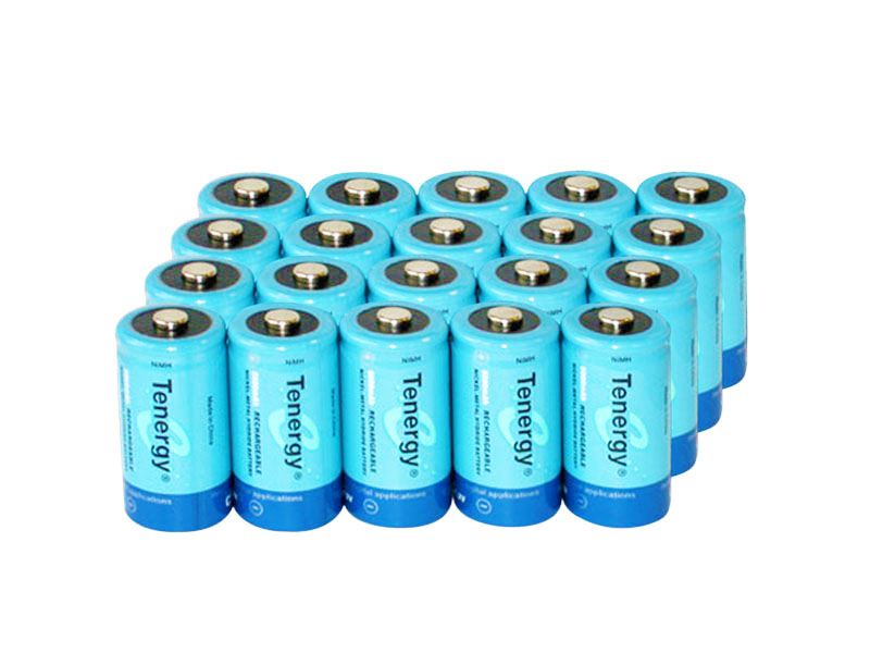 Tenergy 10200 C-cell (20PK) 5000mAh 1.2V Nickel Metal Hydride (NiMH) Button Top Batteries - 20-Pack