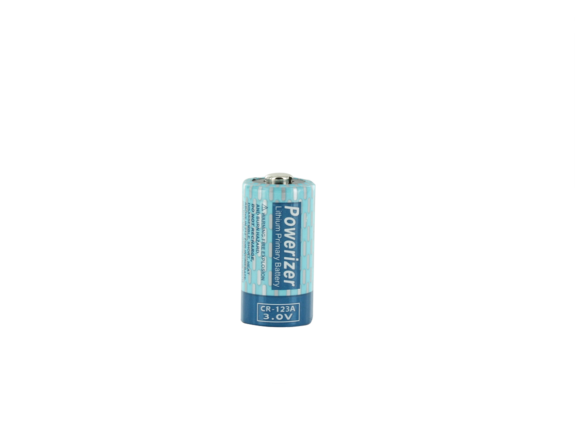 Powerizer CR123A (50PK) 1300mAh 3V Lithium Primary (LiMNO2) Button Top Photo Batteries - Box of 50