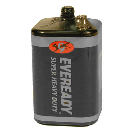 Energizer Eveready Super Heavy Duty 1209 1100mAh 6V Zinc Carbon Lantern Battery