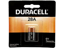 Duracell PX28A 100mAh 6V Alkaline Button Top Medical Battery A544 4LR44 PX28A - 1 Piece Retail Card