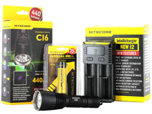 Nitecore Chameleon CI6 Infrared Flashlight Combo - CREE XP-G2 R5 and CREE XP-E R2 LED - 440 Lumens - With Battery and Charger