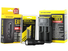 Nitecore EA11 EDC Flashlight Combo - CREE XM-L2 (U2) LED - 900 Lumens - With Battery and Charger