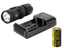 Nitecore EC11 EDC Flashlight Combo - CREE XM-L2 (U2) LED - 900 Lumens - With Battery and Charger