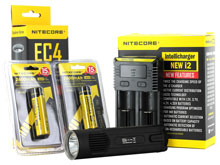 Nitecore EC4 Flashlight Combo - CREE XM-L2 U2 LED - 1000 Lumens - With Battery and Charger