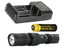 Nitecore MH1A Rechargeable Flashlight Combo - CREE XM-L U2 LED - 550 Lumens - With Battery and Charger