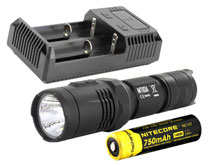 Nitecore MT10A Tactical Flashlight Combo - CREE XM-L2 U2 LED - 920 Lumens - With Battery and Charger