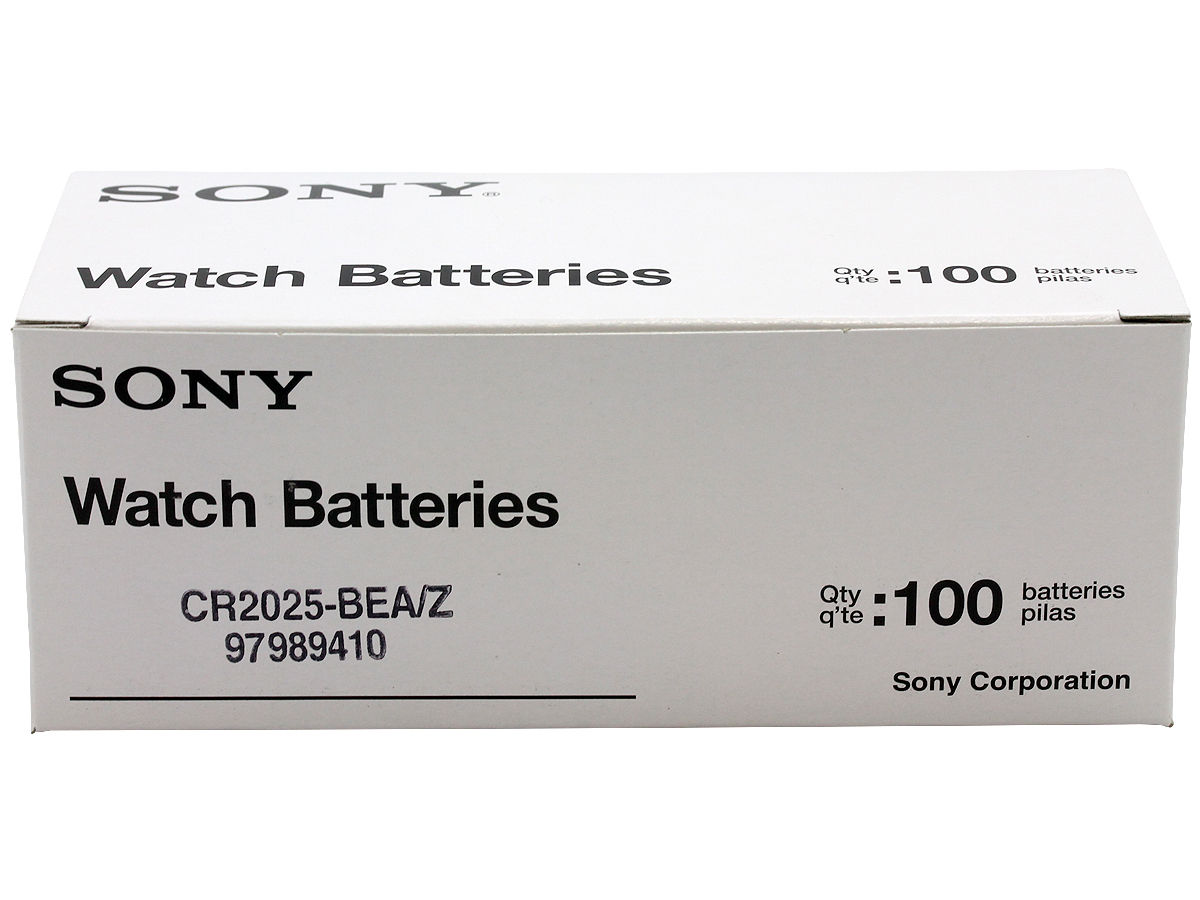 Sony CR2025 160mAh 3V Lithium (LiMnO2) Coin Cell Watch Battery - 1 Piece Tear Strip, Sold Individually