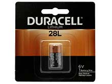 Duracell Photo PX 28L L544 160mAh 6V Lithium (LiMNO2) Button Top Photo Battery - 1 Piece Retail Card