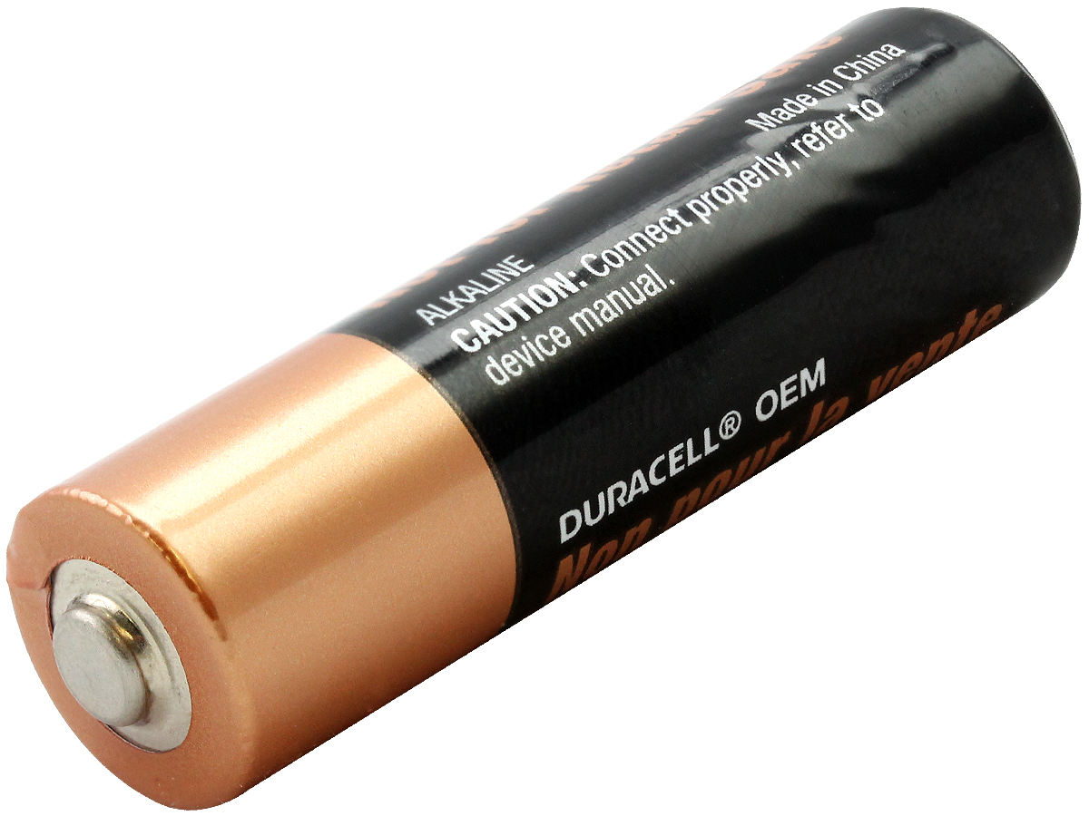 Duracell Duralock MN1500 (60PK) AA 1.5V Alkaline Button Top Batteries - Made in China - Box of 60