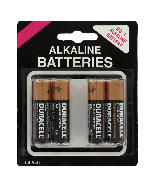 Duracell CopperTop AA 1.5V Alkaline Button Top Batteries - 4 Piece Retail Card