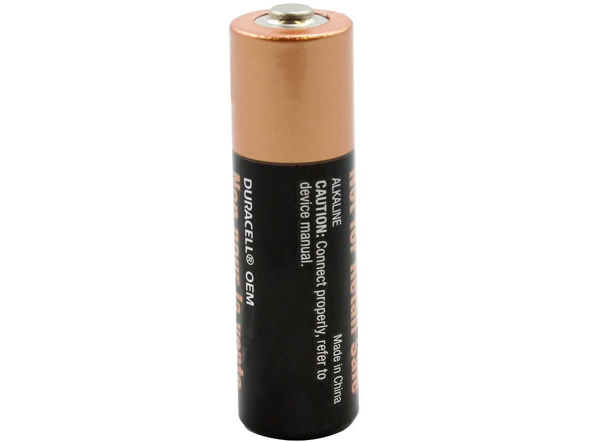 Standing Shot of the Duracell MN1500 AA Alkaline Battery
