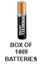 Duracell Ultra MX2500 (1469PK) AAAA 500mAh 1.5V Alkaline Button Top Batteries (E96 MN2500 25A 4061 X91) - Box of 1469