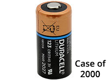 Duracell Ultra DL CR123A (2000PK) 1470mAh 3V Lithium Primary (LiMNO2) Button Top Photo Battery - Case of 2000