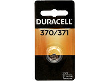 Duracell D370/371 1.55V Silver Oxide Watch/Electronic Button Cell Battery - 1pk (D370-371PK)