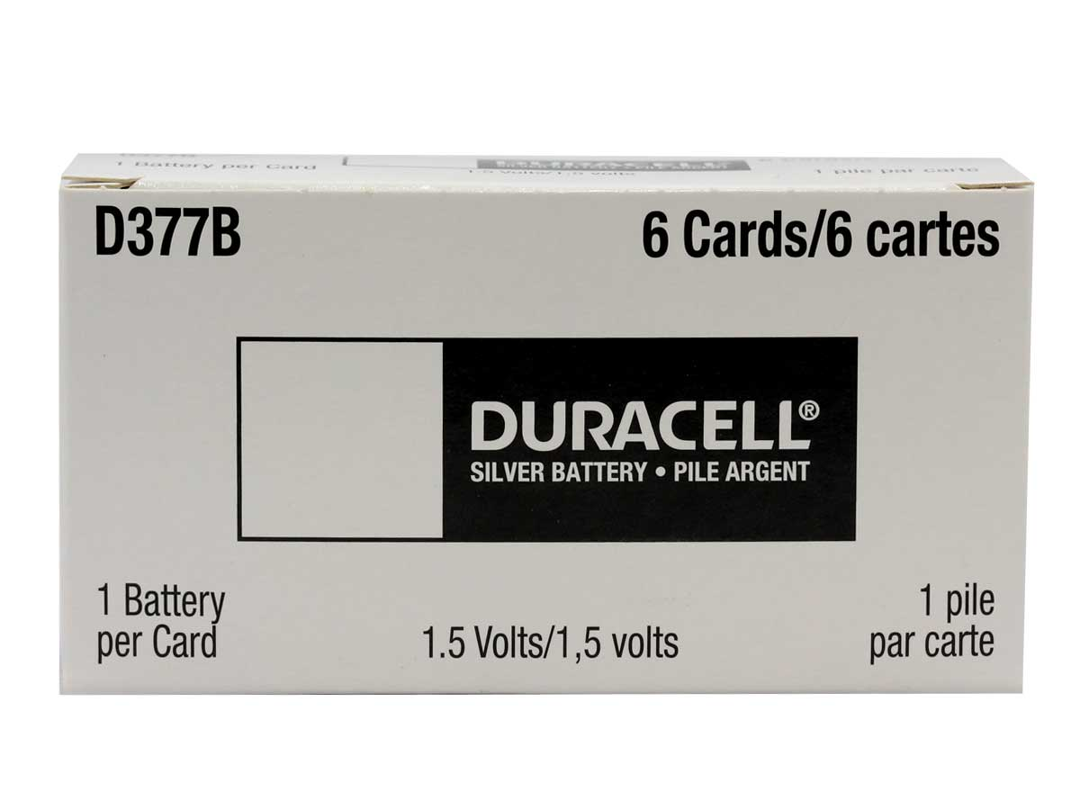 Duracell D377 1.55V Silver Oxide Watch/Electronic Button Cell Battery - 1pk (D377BPK)