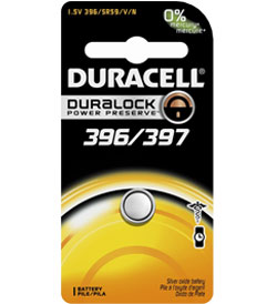 Duracell D396/397 1.5V Silver Oxide Watch/Electronic Button Cell Battery - 1pk (D396-397PK)