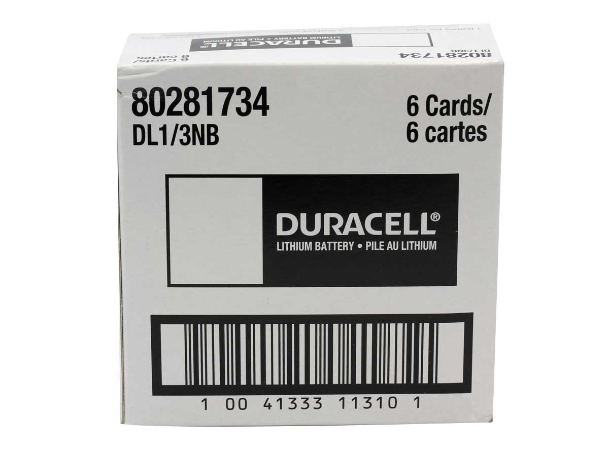 Duracell Photo DL CR1/3N 2L76 160mAh 3V Lithium (LiMNO2) Coin Cell Battery - 1 Piece Retail Card