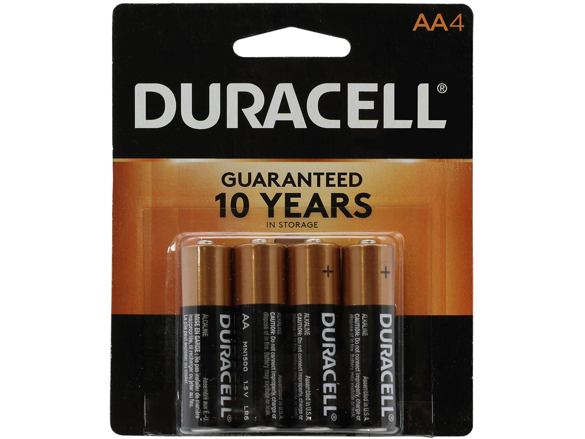 duracell aa coppertop alkaline battery mn1500b4z lr6 4 pack. Black Bedroom Furniture Sets. Home Design Ideas