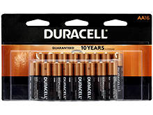 Duracell Duralock MN1500-B16 AA LR6 1.5V Alkaline Button Top Batteries - 16 Piece Retail Card