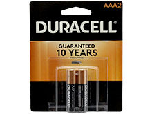 Duracell Duralock MN2400-B2 AAA LR03 1.5V Alkaline Button Top Batteries - 2 Piece Retail Card