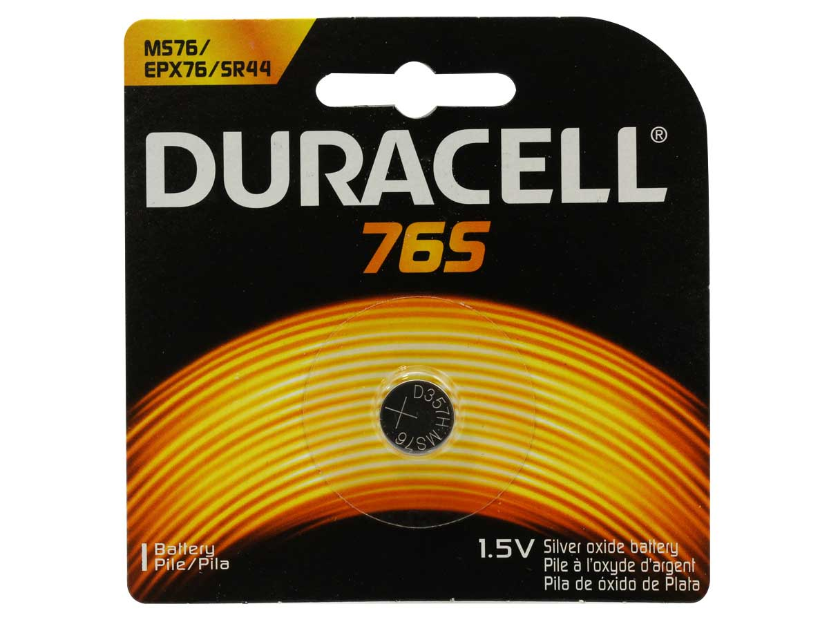 Duracell 76S 1.5V Silver Oxide Coin Cell Battery - 1 Piece Blister Pack   (Duracell MS76)