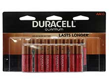 Duracell Quantum QU1500-B16Z11 AA 1.5V Alkaline Button Top Batteries - 16 Piece Retail Card