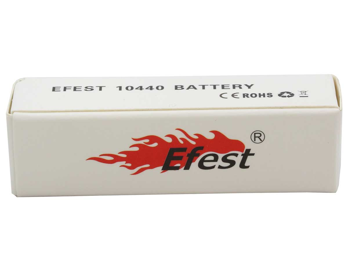 Efest 3145 IMR 10440 350mAh 3.7V Unprotected Lithium Manganese (LiMn2O4) Flat Top Batteries - Boxed, 2-Pack