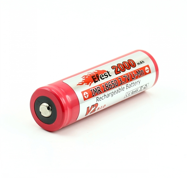 Efest 3245 IMR 18650 2000mAh 3.7V Unprotected Lithium Manganese (LiMn2O4) Button Top Battery - Boxed