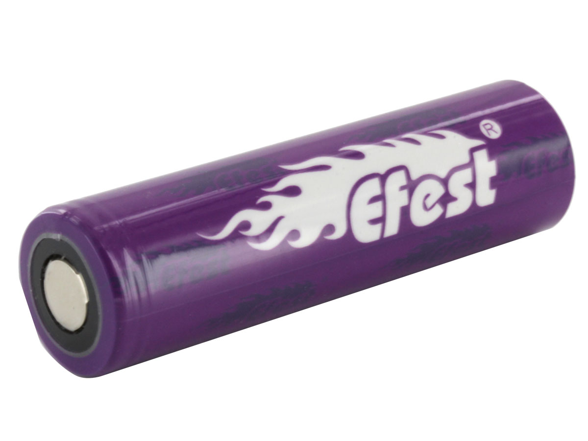 Efest Purple 4506 IMR 18650 2600mAh 3.7V Unprotected High-Drain 30A Lithium Manganese (LiMn2O4) Flat Top Battery - Boxed