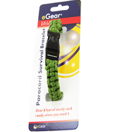 eGear Survival Essentials Para Survival Bracelet - Green (26-295BB-15)