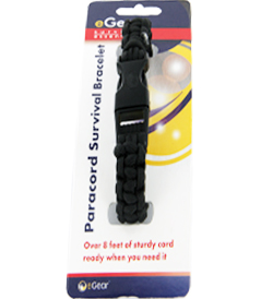 eGear Survival Essentials Para Survival Bracelet - Black (26-295BB-20B)