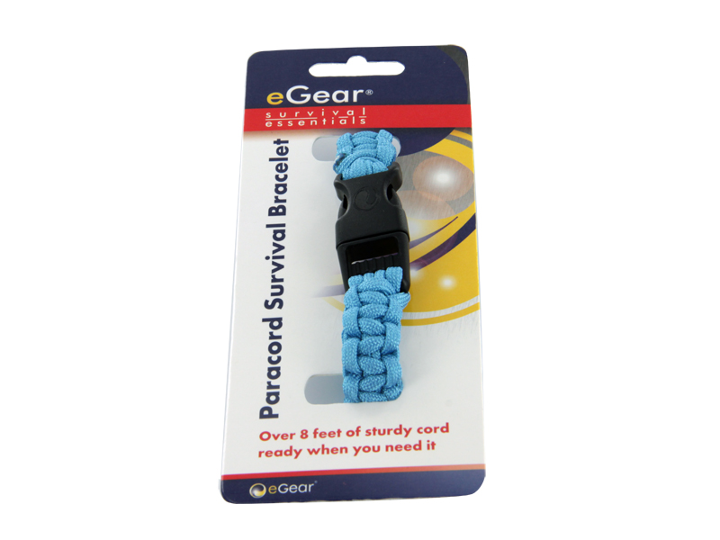 eGear Survival Essentials Para Survival Bracelet - Light Blue (26-295BB-26)