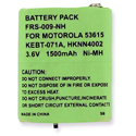 Empire FRS-009-NH 1500mAh 3.6V Replacement Nickel-Metal-Hydride (NiMH) Battery Pack for Motorola 53615 2-Way Radio