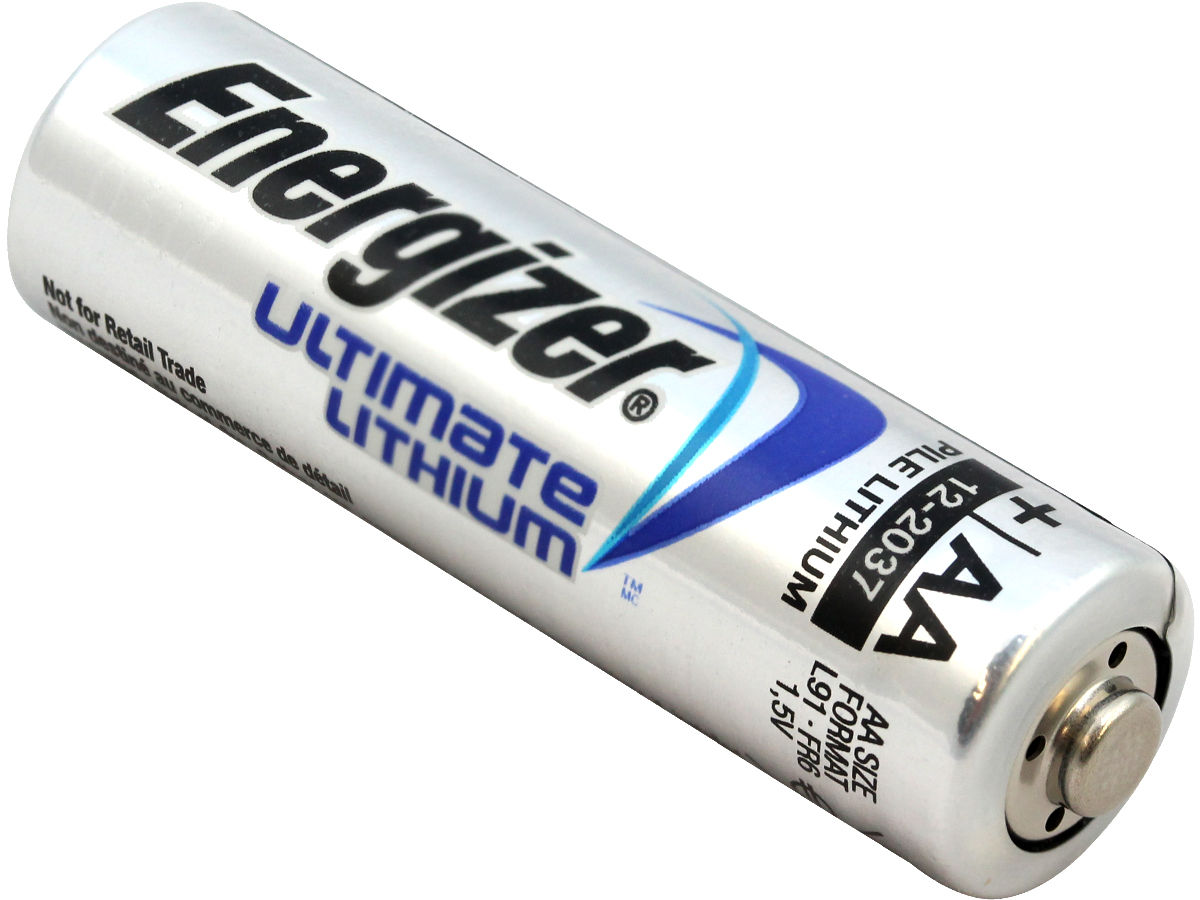 Energizer Ultimate L91-BP-4 AA 3000mAh 1.5V High Energy 5A Lithium (LiFeS2) Button Top Batteries - 4 Pack Retail Card