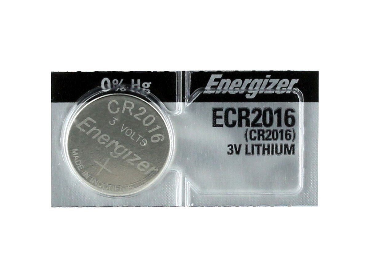 Energizer ECR2016 100mAh 3V Lithium (LiMNO2) Coin Cell Battery - 1 Piece Tear Strip, Sold Individually