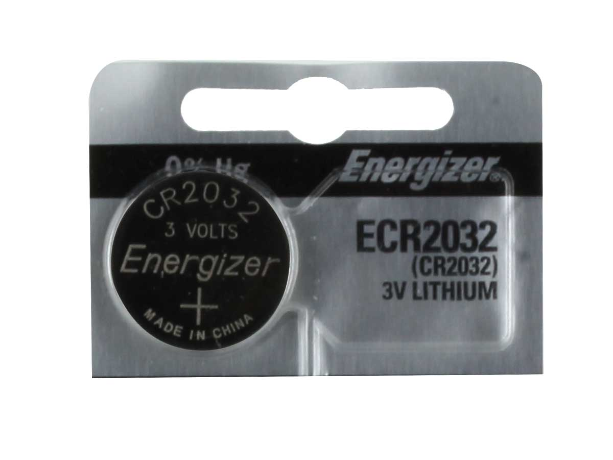 Energizer ECR2032 240mAh 3V Lithium (LiMNO2) Coin Cell Battery - 1 Piece Tear Strip, Sold Individually
