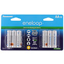 Panasonic Eneloop BK-3MCCA-12BA AA 2000mAh 1.2V Low Self Discharge Nickel Metal Hydride (NiMH) Button Top Batteries  - 12 Pack Retail Card