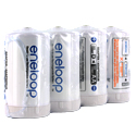 Panasonic Eneloop D Cell Spacer AA Battery Converters - 4 Pack