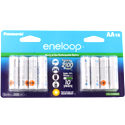 Panasonic Eneloop BK-3MCCA-16BA AA 2000mAh 1.2V Low Self Discharge Nickel Metal Hydride (NiMH) Button Top Batteries - 16 Pack Retail Card