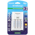 Panasonic Eneloop 4-Position Charger with 4 x 2000mAh NiMH Low Self Discharge AA Batteries (K-KJ17MCA4BA)