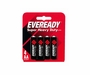 Energizer Eveready Super Heavy Duty 1215-SW-4 AA 1100mAh 1.5V Zinc Carbon Button Top Batteries  - 4 Piece Retail Card