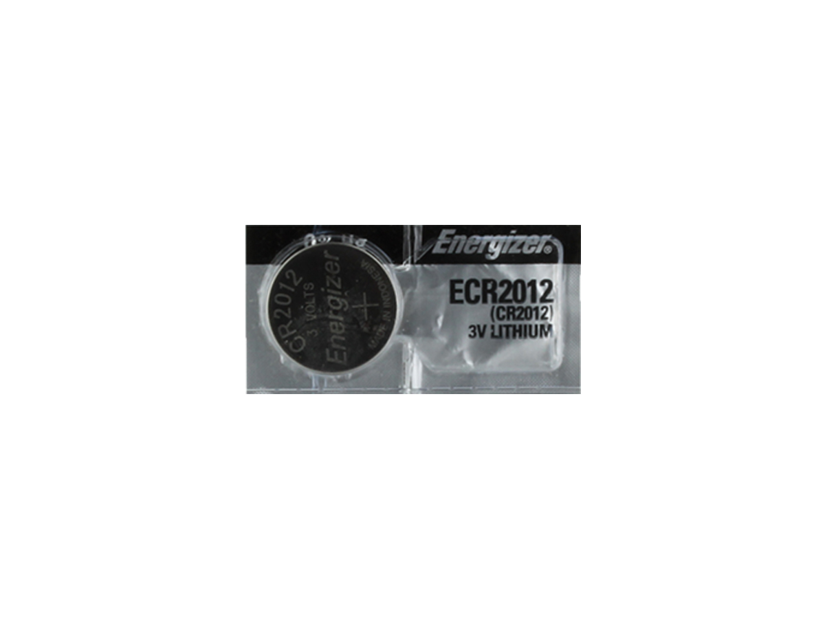 Energizer ECR2012 58mAh 3V Lithium (LiMNO2) Coin Cell Battery - 1 Piece Tear Strip, Sold Individually