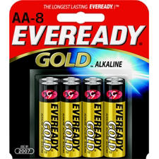 Energizer Eveready Gold A91-BP-8 AA 1.5V Alkaline Button Top Batteries - 8 Piece Retail Card