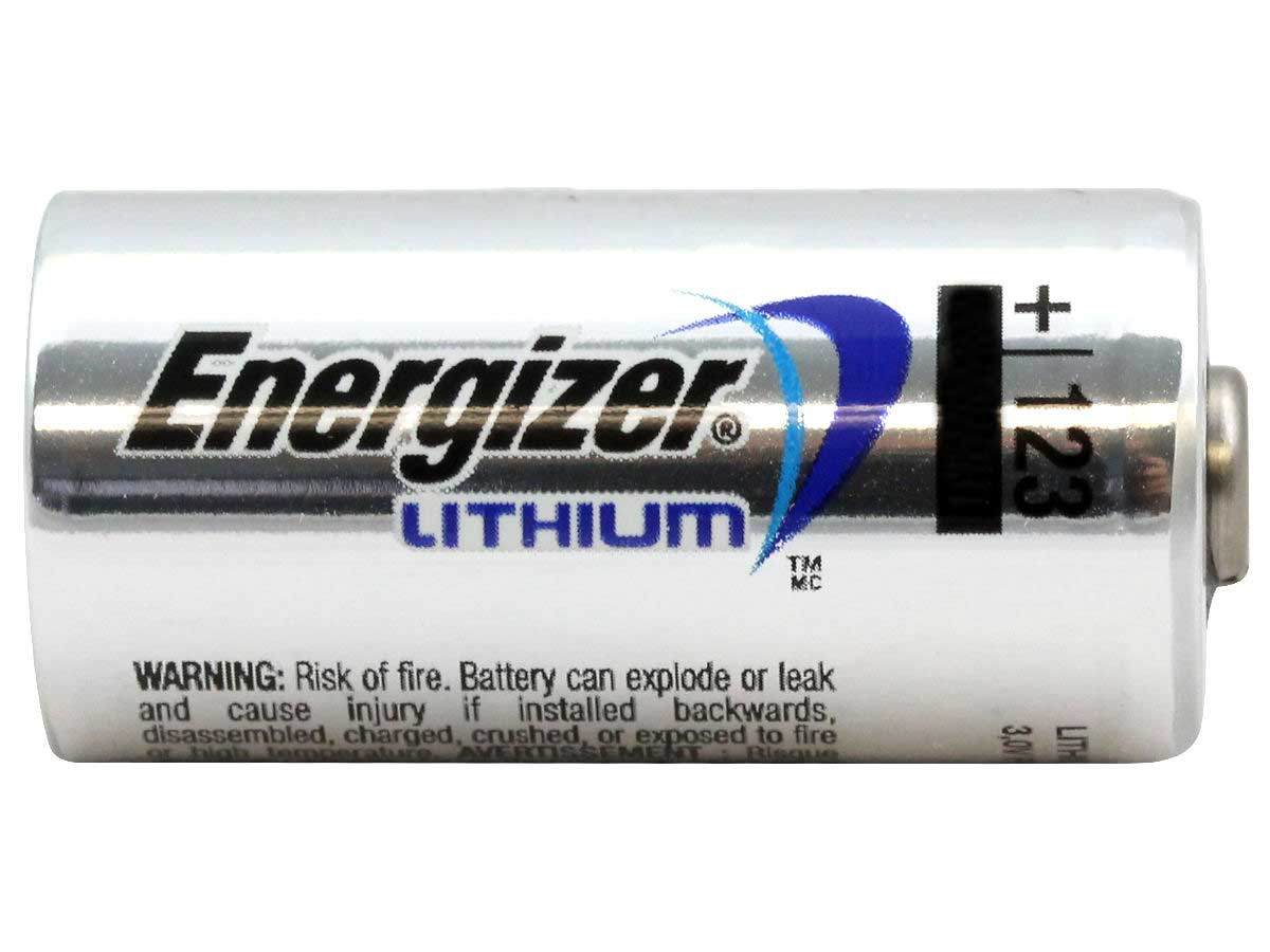 Energizer ELCR123A-VP 1500mAh 3V Lithium Primary (LiMNO2) Button Top Photo Battery - Bulk