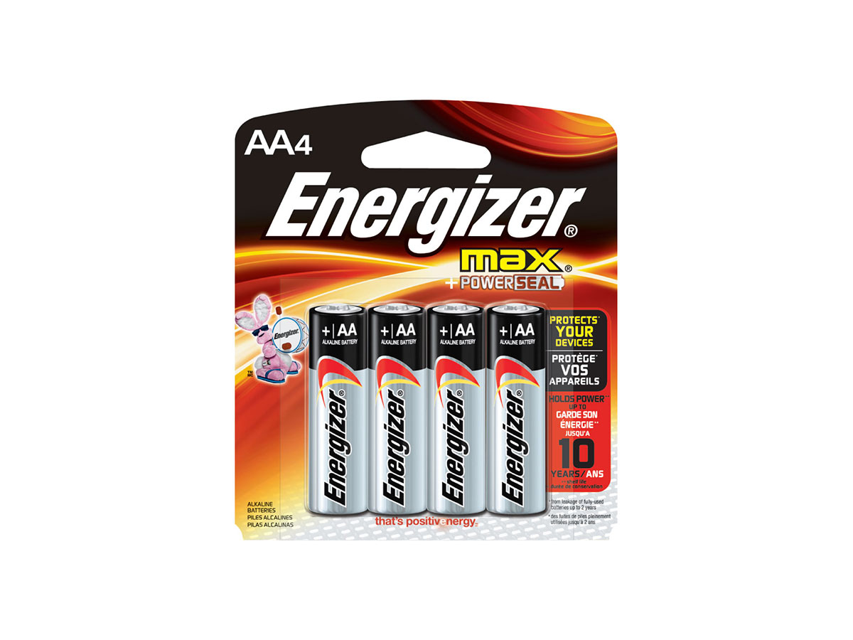energizer max aa alkaline battery e91bp 4 4 count blister pack. Black Bedroom Furniture Sets. Home Design Ideas