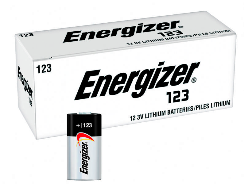 Energizer L123 3V Lithium Photo Batteries - 12 Count Dense Pack (EL123)