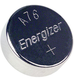 Energizer EN A76 1.5V Alkaline Coin Cell Watch Battery - 1 Piece Tear Strip, Sold Individually